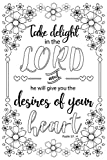 Bible Colouring Canvas For Adults, Stretched primed canvas to colour 8 x 12