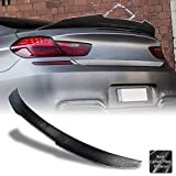 AeroBon Real Carbon Fiber Trunk Spoiler Wing Compatible with 2012-18 BMW 6-Series F06 GC & F13 Coupe