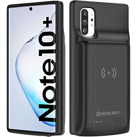 "NEWDERY Galaxy Note 10 Plus Battery Case 10000mAh, Fast Charging Wireless Charging Case, NFC& Android Auto & Samsung Dex & Sync Tech Supported, Extended Backup Charger Case for Note 10 + 5G(6.8"")"