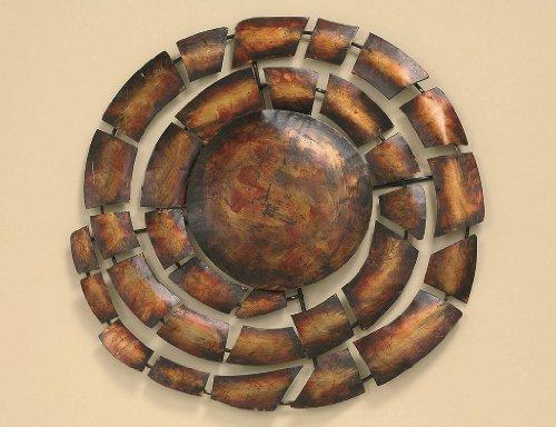 Boltze Wanddeko 63 cm Mehdi, Eisen, Unikat rot