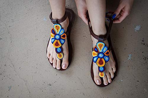 Handmade Hibiscus Flower Sandal