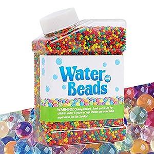 Cneng Juego de perlas de agua de 50.000 perlas para crecimiento, perlas de agua, habilidades motoras finas, juego de juguetes para plantas, relleno de jarrones, decoración principal