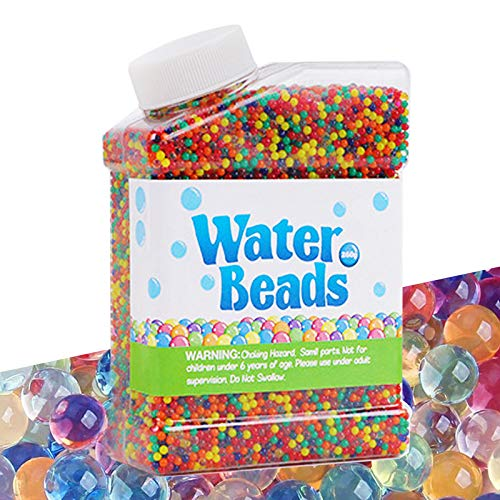 Cneng Juego de perlas de agua de 50.000 perlas para crecimiento, perlas de agua, habilidades motoras...