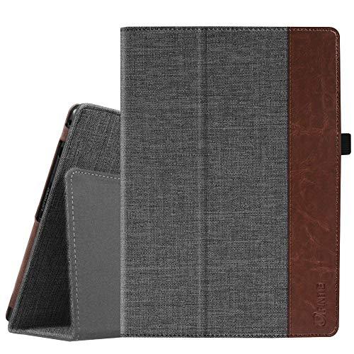 Fintie Lenovo Tab4 10 / Tab4 10 Plus Hülle - Folio Stoff Schutzhülle Tasche Etui Case mit Auto Schlaf/Wach Funktion für Lenovo Tab 4 10 / Tab 4 10 Plus (10 Zoll) Tablet-PC, Denim dunkelgrau
