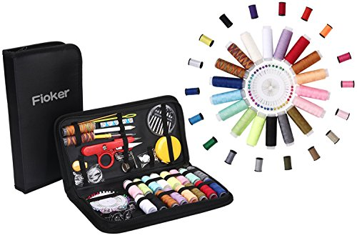 Sewing Kit, AAA Fioker 136 Portable Basic Sewing Accessories Tools case, 36 Color Spools of Thread, Mini sew kits supplies for Travel home Use or DIY Project to Mending and Repair