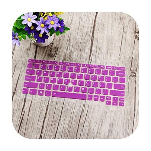 Funda protectora para teclado Lenovo ThinkPad X390 X260 X270 X280 Yoga 260 Yoga 370 X240 X 240S X250 Thinkpad X380 Yoga Laptop - Morado