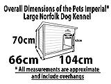 Pets Imperial® Große, isolierte Norfolk Hundehütte aus Holz mit entfernbarem Boden zur einfachen Reinigung DE - 7