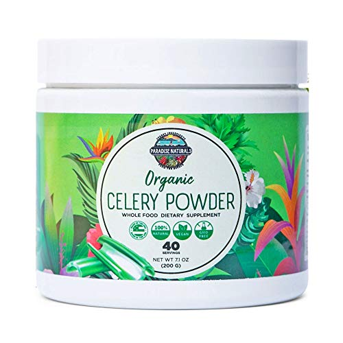 Celery Powder Organic for Healthy Digestion & Detox - Green Juice & Weight Loss Cleanse - Boost Immune System & Energy - (40 Servings) Natural Smoothie Supplement