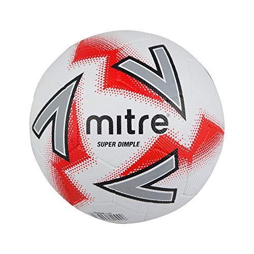 Mitre Super Dimple, Calcio Unisex, White/Red, 3