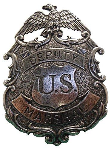 Decoratie US Deputy Marshal merk in antieke afwerking look, met adelaarversiering