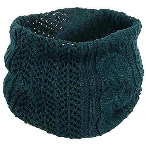 TOOGOO Collares de Lana de Punto para Hombres y Mujeres, Parejas, Invierno Salvaje, Collares de un Solo Bucle, Circunferencia de la Cabeza Verde Oscuro