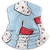 Calcetines navideños Unisex Invierno Cuello Calentador Polainas Banda para el cabello Tubo para clima frío Mascarilla Térmica Bufanda de cuello Protección UV al aire libre