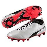 PUMA One 17.4, Chaussures de Football Homme, Blanc (White-Black-Fiery Coral), 43 EU