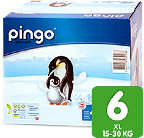 128 St. Pingo BIO Windeln XL X-Large Größe 6 (15-30 kg) 4x Beutel