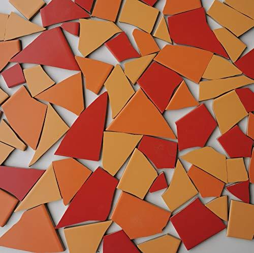 Fliesenbruch frostfest Verschiedene Mixe Mosaik Bruchfliesen (3.5, Rotmix)