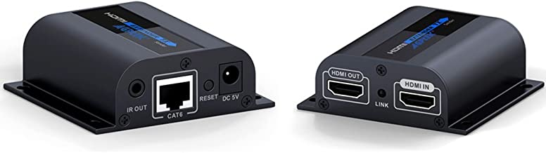 HDMI Extender with Loop-Out Local Display, 1080P Transmission up to 196ft/60m Over Single Cat6/6a/7 Ethernet Cable with IR Blaster and Receiver Cables (LKV372pro)