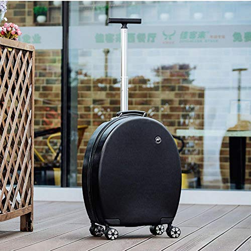 20' Inch Girls Spinner Small Travel Trolly Bag Set Carry On Suitcase Cute Luggage On Wheels,Only Luggage Black,20'