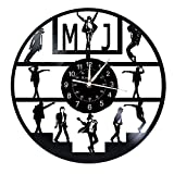 Smotly Vinilo Pared Reloj, Michael Jackson diseñado Relojes de Pared Grandes, Regalos Reloj de Pared Hechos a Mano,A