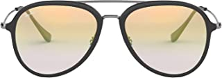 Ray-Ban Plastic Unisex Sunglass Aviator, GREY 57 mm