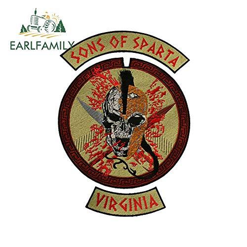 A/X 13 cm 9,3 cm para Sons of Sparta Virginia Pegatinas de Coche de Dibujos Animados Tabla de Surf oclusión calcomanía para rayar Maletero gráficos para Ordenador portátil