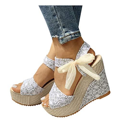 WINTOM Sandali Donna Zeppa Plateau Ciabatte Estive Pantofole Donna Estive Comode Sandalo Donna Estivo Elegante Sandali Sportivi Donna Women Shoes Sandals