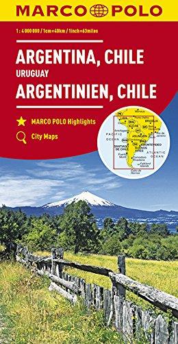 MARCO POLO Kontinentalkarte Argentinien, Chile 1:4 000 000: Bolivien, Paraguay, Uruguay, Falkland (MARCO POLO Kontinental-/Länderkarten)