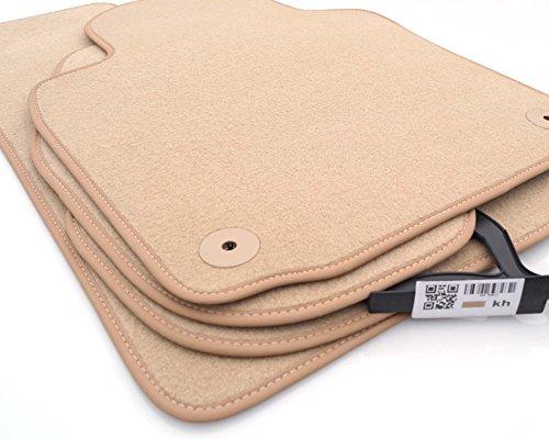Tapis de sol pour audi a3 (8P/tous) produit tapis velours 4.teilig-beige