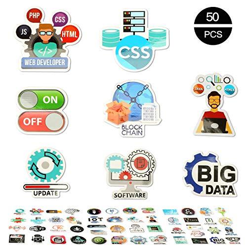 OOTSR 50 stücke Nette Programmiersprache Aufkleber Internet Software Aufkleber Für Geeks Hacker Entwickler zu DIY iPhones Laptop Motorrad Fahrrad Gepäck Skateboard
