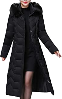 Women's Hooded Thickened Outwear Long Down Jacket Down Coat