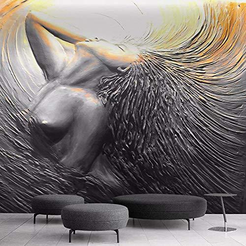 3D Fotomurales No Tejido Mural Mujer Abstracta Salón Dormitorio Despacho Pasillo Decoración Murales Decoración De Paredes Moderna 200X150cm