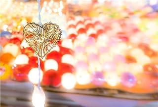 WaW 7x5pies Fondo de Fotografía para Estudio de Fotos Fondo de Fiesta luz y Corazón Dorado Claro