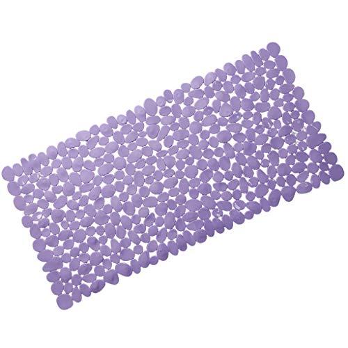 FLAMEER Tapis De Bains Sol Douche Cuisine Facile à Nettoyer Durable - Violet