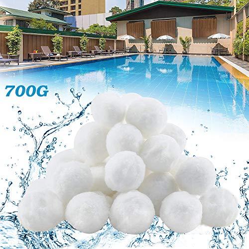 YIKANWEN Filter Balls 700g ersetzen 25kg Filtersand, Filterbälle für Pool, Schwimmbad, Filterpumpe, Aquarium Sandfilter.