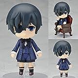 Black Butler Anime Figuras Kuroshitsuji Ciel Cute Toys Set Modelo Acción Figura Brinquedos Libro de Circo Juguetes Figma 10cm PVC