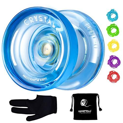MAGICYOYO K2 Responsive Plastic Fingerspin Yoyo for Kids Beginners Yo-Yo with Yoyo Glove, Yoyo Bag,...