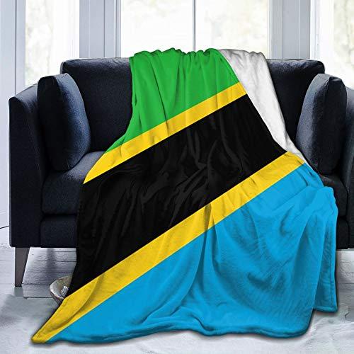 Flanelldecke mit Flagge von Tansania, bequem, ultraweich, für Bett oder Sofa, für alle Jahreszeiten, 127 x 152,4 cm