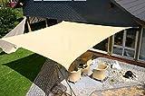 Eduplay Sonnensegel, 6x4m, Rechteck, beige