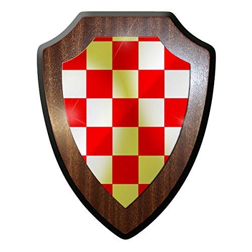 Wappenschild/Wandschild -Kroatien Kokarde Schachbrett Fahne Land Kroaten #9644