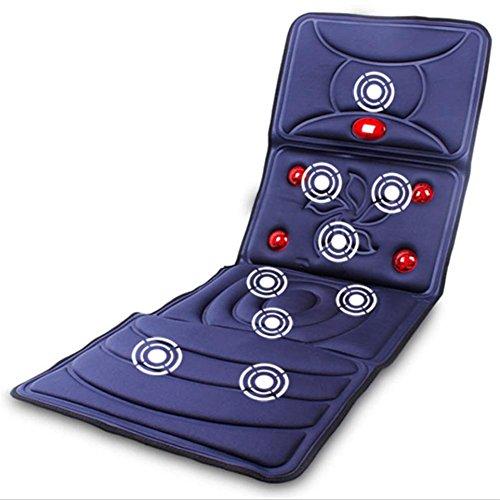 AMYMGLL Coussins de Matelas de Massage Chauffant Multifonction Version améliorée Corps de Choc électrique Couverture de Massage Coussin de Massage Personnes âgées équipement de Massage Pliable*, 2