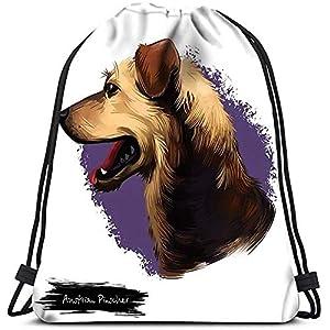 Bolsas De Cuerdas Gimnasio,Saco De Gimnasio Deporte,Mochila Con Cordón,Pinscher Austriaco Raza De Perro Arte Digital…