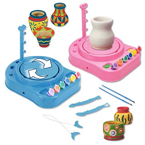 Lukame✯ Bginners Kinder Töpferscheibe Kit Mit Gemälden Und Diy Toy Tools Bestes Geschenk (Pink)