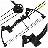 Anglo Arms NEW Black Kita 25lb Compound Bow Set with 2 Arrows