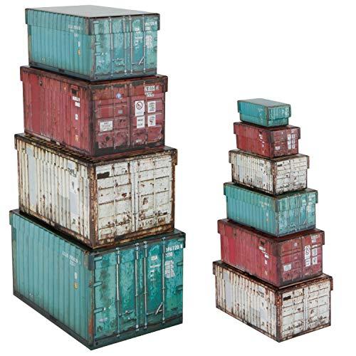 546139 Lot de 10 boîtes cadeau rectangulaires Turquoise/beige/baie Rose 8,5 x 4,2 x 3 cm à 25,5 x 17,5 x 15 cm