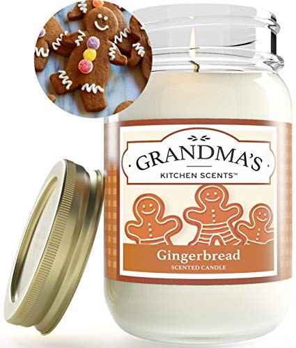 Gingerbread Cookie Scented Soy Candles | Large One Pint Jar | Hand Made in The USA | Delicious Scent | Extra Clean Burning and Long-Lasting Soy Candle