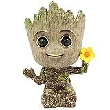 SLOCME Pot de fleurs à fleurs – Gardiens du Groot Galaxy pour porte-stylos, décoration de bureau, pot de plantes avec trou de drainage