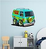 Stickit Graphix Scooby Doo Wall Decal Vinyl Mystery Machine Van Minivan Cartoon Network Volkswagen VW Bus Kids Wall Decor (18 inch)
