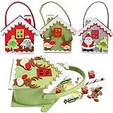 KARAA 3 PCS Bolsas de regalo de Navidad, Bolsas de fieltro de decoración navideña, Bolsas de regalo, Bolsas para dulces, Bolsas para rellenar para fiestas navideñas