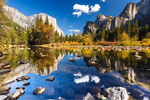 100/300/500/1000 piezas juego de rompecabezas juguetes para niños adultos,Paisaje del parque nacional de Yosemite para adultos niños juegos infantiles