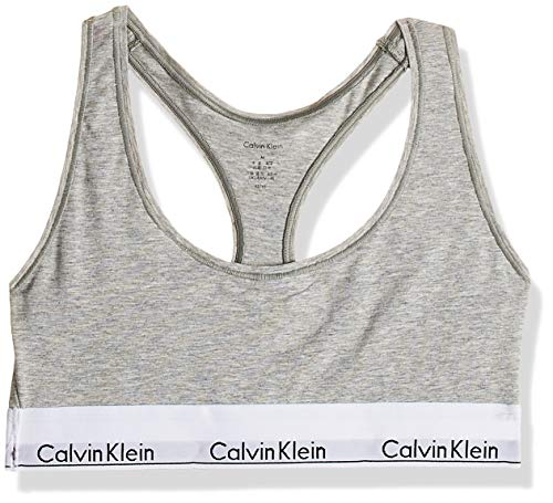 Calvin Klein Bralette, Corsetto Donna, Grigio (Grey Heather 020), Small