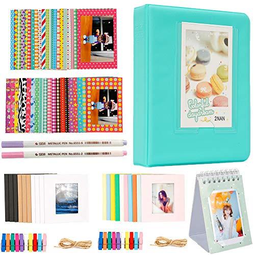 Alohallo Photo Album Accessories Bundles Set for Fujifilm Instax Mini 7s 8 8+ 9 25 50s 70 90, Polaroid Snap PIC-300, HP Sprocket, Kodak Mini 3-Inch Film - Green